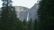 Stock Video Footage of Yosemite Falls, Mood AM-A
