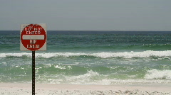 Rip Current Danger Stock Footage