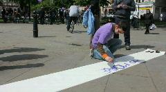 Purple protest 1 Stock Footage