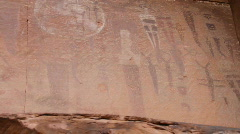 Pictograph, petroglyph Moab Stock Footage