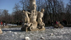 Frozen Fountain Stock Footage