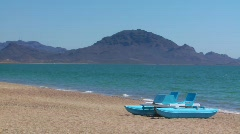 Paddle Boat on Beach (HD) c Stock Footage