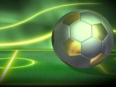 Soccer Metallic Background 1 PAL Stock Footage