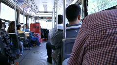 Jm966 Streetcar Riding Pan Stock Footage