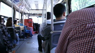 Stock Video Footage of jm966 Streetcar Riding Pan