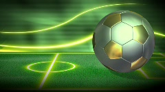 Soccer Metallic Background 1 HD - stock footage