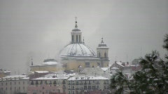 Winter In Madrid, Church of San Francisco El Grande Stock Footage