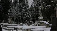 Snowed Graveyard Stock Footage