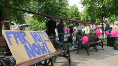 Purple protest 13 Stock Footage