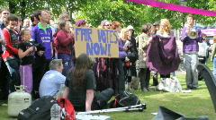 Purple protest 16 Stock Footage