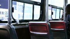 jm971 Streetcar Seats - stock footage