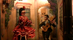 Automaton Spanish Dancer Stock Footage