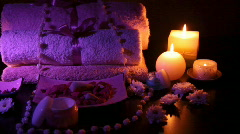 Spa accessories - stock footage