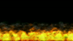 Abstract  hot Fire burning background powerful particle smoke power energy. Stock Footage