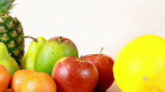 Fresh fruits, dolly shot Stock Footage