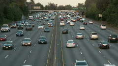 Time Lapse of Los Angeles Freeway Traffic - Clip 10 Stock Footage
