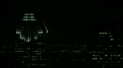 City buildings at night still lifes Stock Footage