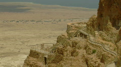 Masada herods palace 6 - stock footage