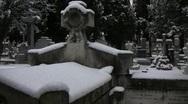 Snowed Graveyard Stock Footage