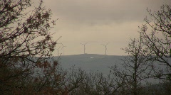 Forest with Wind Turbines Stock Footage