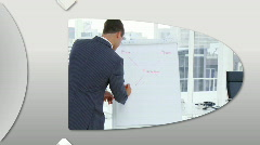 Montage of confident business people doing a presentation Stock Footage