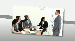 Montage of Assertive business people doing a presentation - stock footage