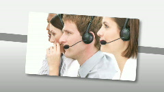 Animation presenting multi-etnic customer service representatives Stock Footage