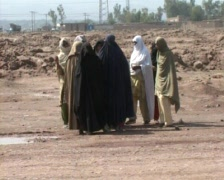 Afghan Women in Burqas - stock footage