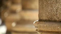 Antique stone pillar 2 Stock Footage