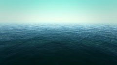 Flight over the ocean - looped 3d animation Stock Footage