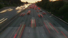 Time Lapse of Los Angeles Freeway Traffic - Clip 7 - stock footage