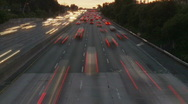 Stock Video Footage of Time Lapse of Los Angeles Freeway Traffic - Clip 7