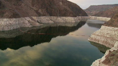 Time Lapse of Hoover Dam Reservoir - Day to Night Stock Footage
