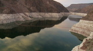Stock Video Footage of Time Lapse of Hoover Dam Reservoir - Day to Night