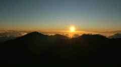 Mountain Sunrise Time Lapse Stock Footage