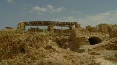 Masada herods palace 5 - stock footage