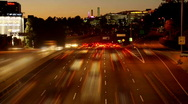 Time Lapse of Los Angeles Freeway Traffic - Clip 8 Stock Footage
