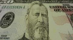 Running Off Fifty Dollar Bills Stock Footage