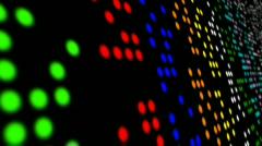 Retro Computer Lights Loop Stock Footage