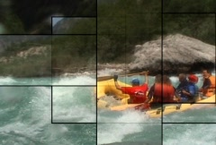 Rafting the Green River multiscreen - stock footage