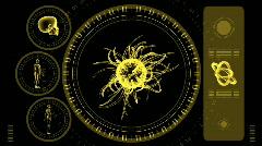 Virus Scan Screen - Hi-tech 20 (HD) Stock Footage