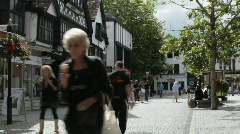 English small town - Taunton 7 Old English Street Stock Footage