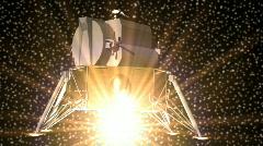 T186 lunar lander taking off landing moon nasa Stock Footage