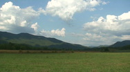Stock Video Footage of Cades Cove Meadow 2