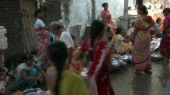 Fish market in india - stock footage