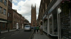 English small town - Taunton 14 Road to the church Stock Footage