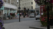 English small town - Taunton 12 Traffic passing by Stock Footage