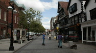 English small town - Taunton 13 Very old street Stock Footage