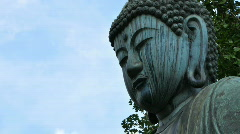 Japanese Buddha Time Lapse Stock Footage