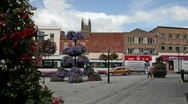 English small town - Taunton 10 flower display Stock Footage